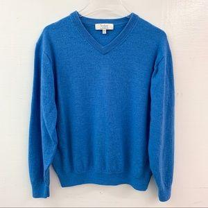 Turnbury Extra Fine Merino Wool V-Neck Sweater L